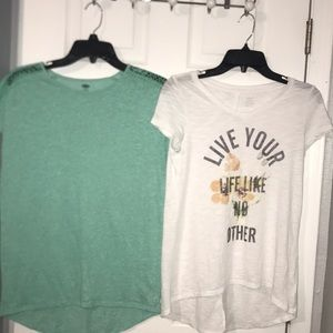 Two Old Navy tops